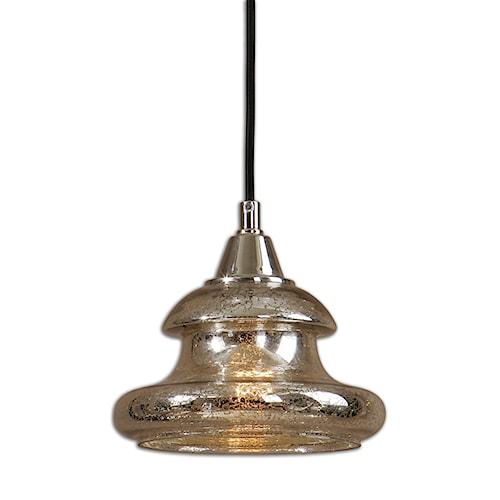 Uttermost Lighting Fixtures Arborea Glass Mini Pendant