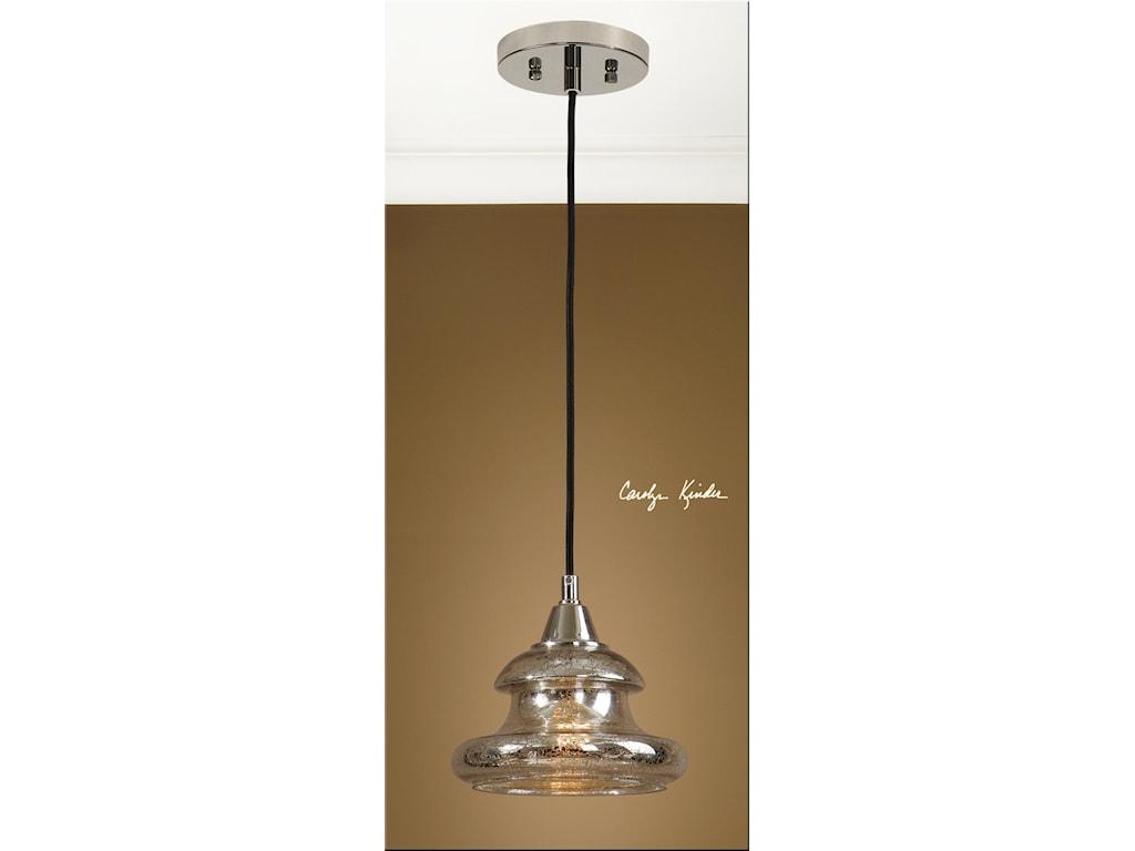 Uttermost Lighting Fixtures - Pendant LightsArborea Glass Mini Pendant