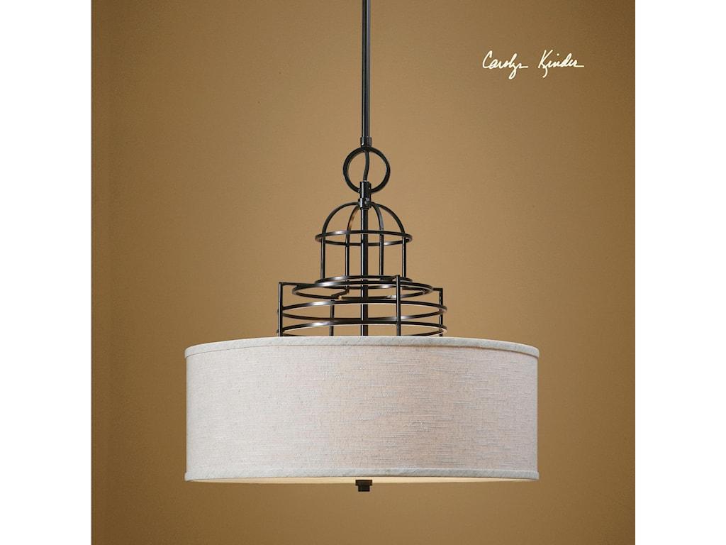 Uttermost Lighting Fixtures - Pendant LightsUttermost Cupola 3 Light Drum Shade
