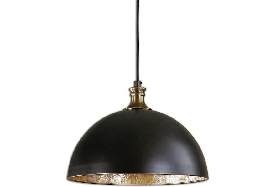Lighting Fixtures Pendant Lights Uttermost Placuna 1 Light Bronze By At Dunk Bright Furniture