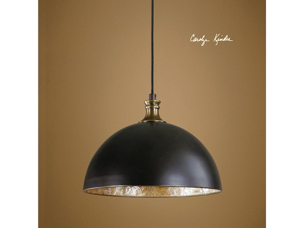 Uttermost Lighting Fixtures - Pendant LightsUttermost Placuna 1 Light Bronze Pendant