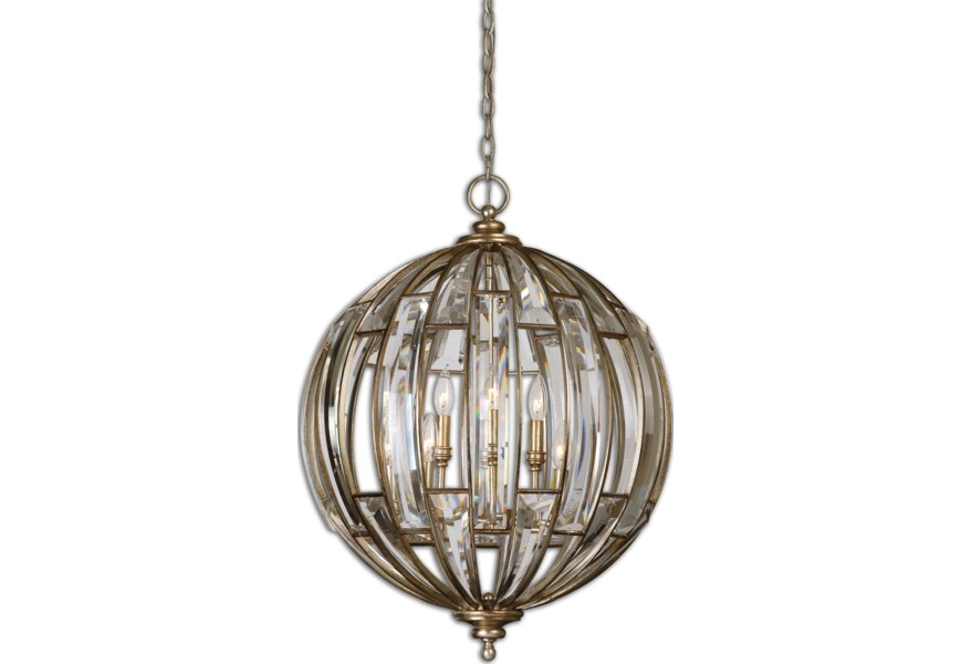 Lighting Fixtures Pendant Lights Uttermost Vicentina 6 Light Sphere By At Dunk Bright Furniture
