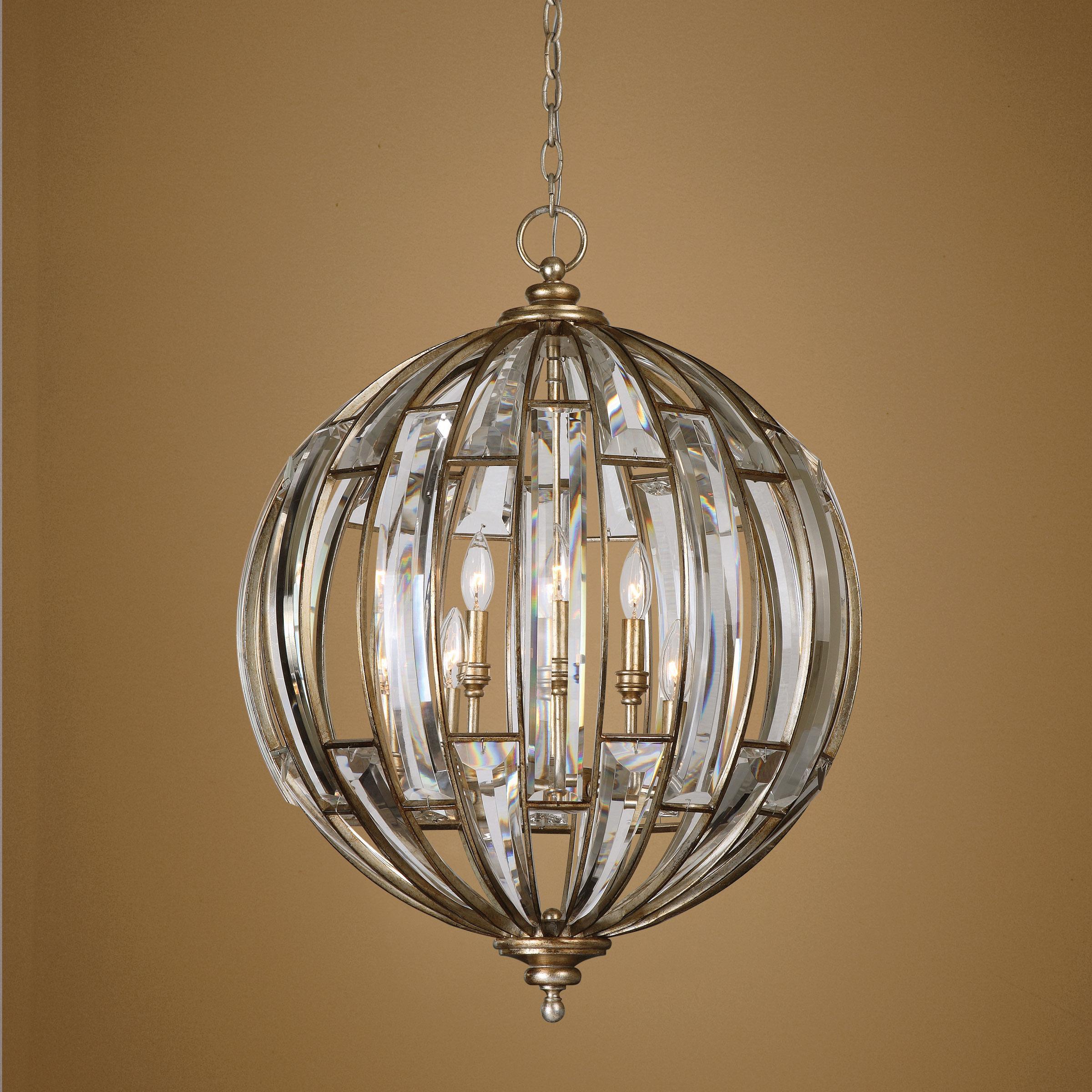 Uttermost Lighting Fixtures Pendant Lights Uttermost Vicentina 6 Light Sphere Pendant Wayside Furniture Pendant Lights Chandeliers