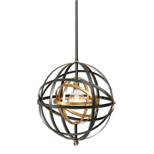 Uttermost Lighting Fixtures Rondure 1 Light Sphere Pendant