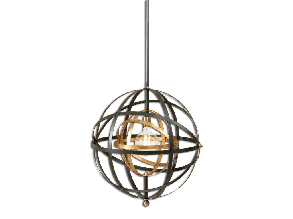 Lighting Fixtures Pendant Lights Rondure 1 Light Sphere By Uttermost At Houston S Yuma Furniture