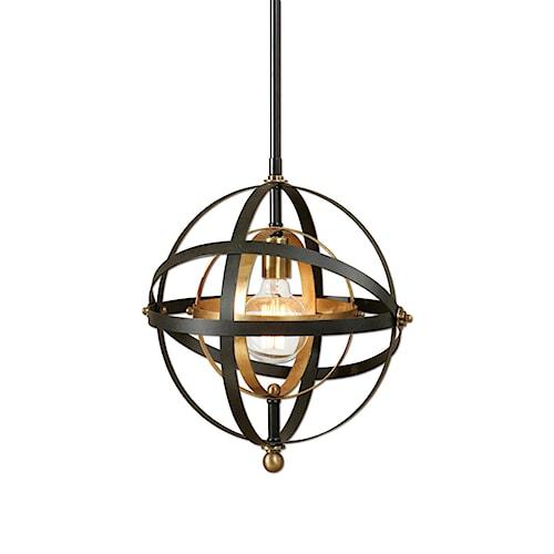 Uttermost Lighting Fixtures Rondure 1 Light Sphere Mini Pendant
