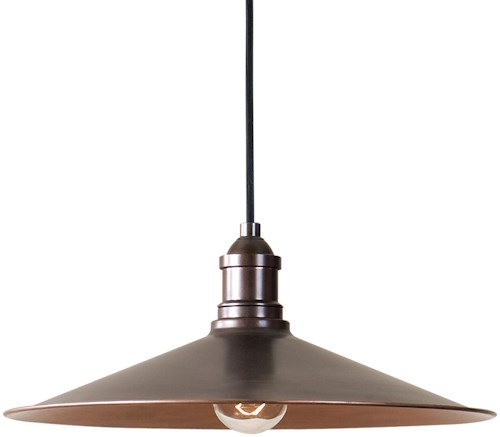 uttermost lighting fixtures 22051 barnstead 1 light copper pendant