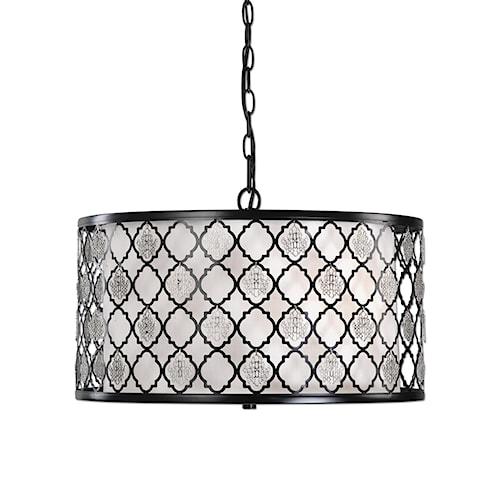 Uttermost Lighting Fixtures Filigree 3 Light Drum Pendant