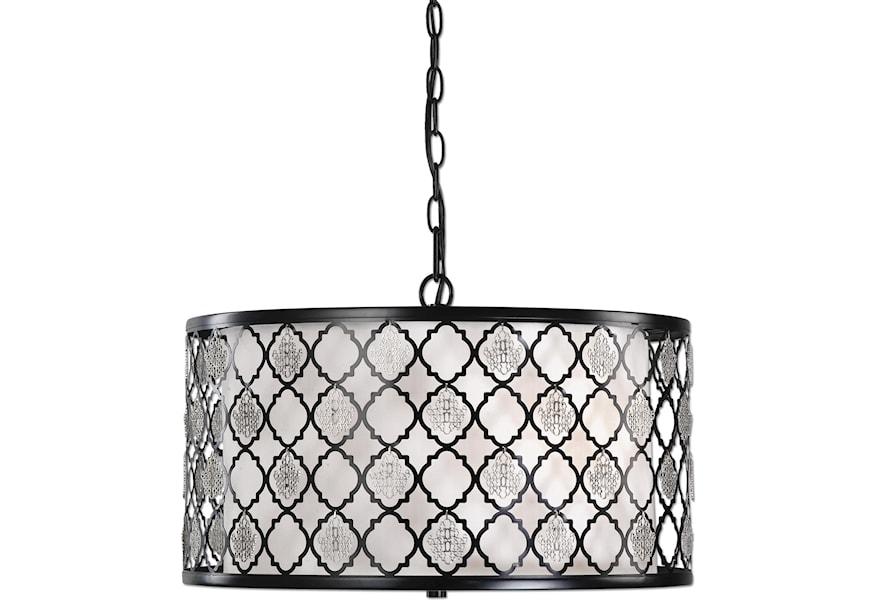 Lighting Fixtures Pendant Lights Filigree 3 Light Drum Pendant By Uttermost At Dunk Bright Furniture