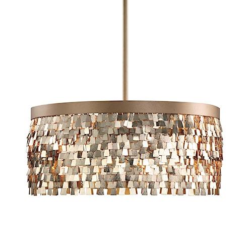 uttermost lighting fixtures tillie 3 light textured gold pendant - Uttermost Lights