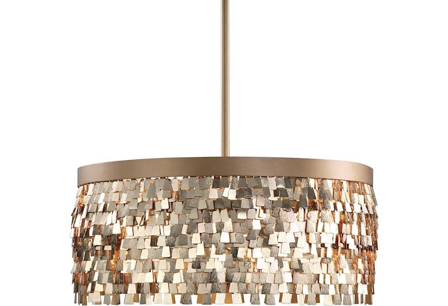 Uttermost Lighting Fixtures Pendant Lights Tillie 3 Light Textured Gold Pendant Suburban Furniture Pendant Lights Chandeliers