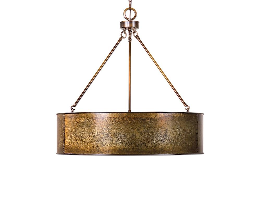 Uttermost Lighting Fixtureswolcott 5 Light Golden Pendant