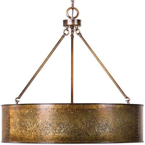 Uttermost Lighting Fixtures Wolcott 5 Light Golden Pendant