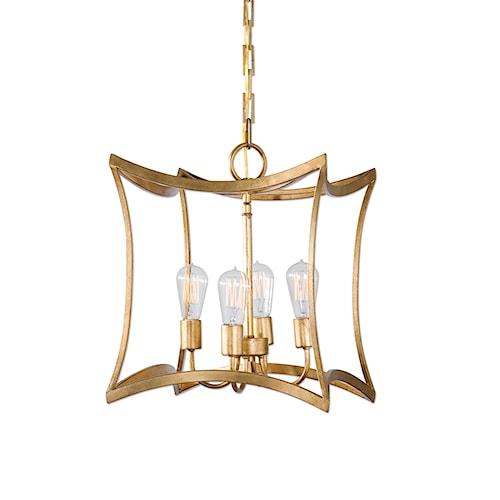 Uttermost Lighting Fixtures Dore 4 Light Lantern Pendant