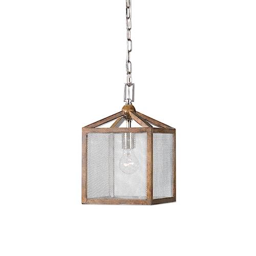 Uttermost Lighting Fixtures Nashua Wooden 1 Light Mini Pendant
