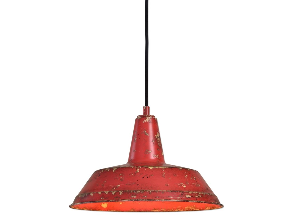 Uttermost lighting fixturespomodoro 1 light distressed pendant