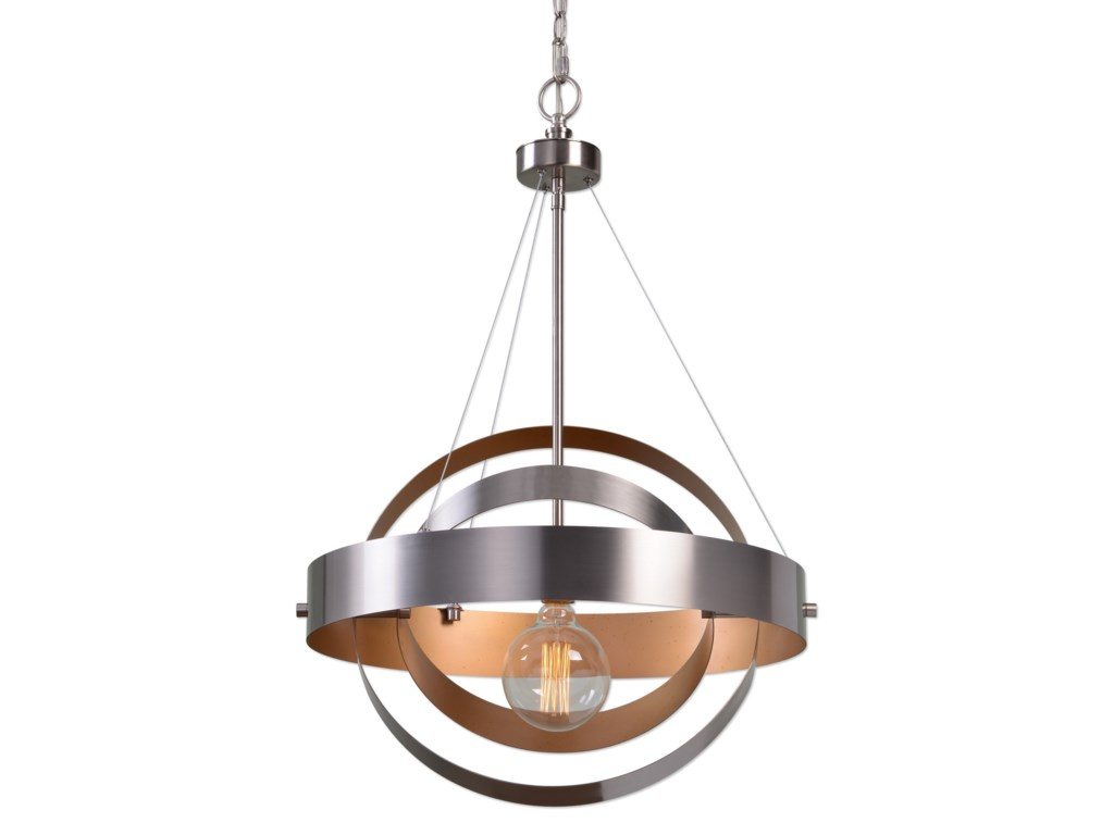 Uttermost lighting fixtures 22095 anello 1 light brushed nickel uttermost lighting fixturesanello 1 light brushed nickel pendant aloadofball Images