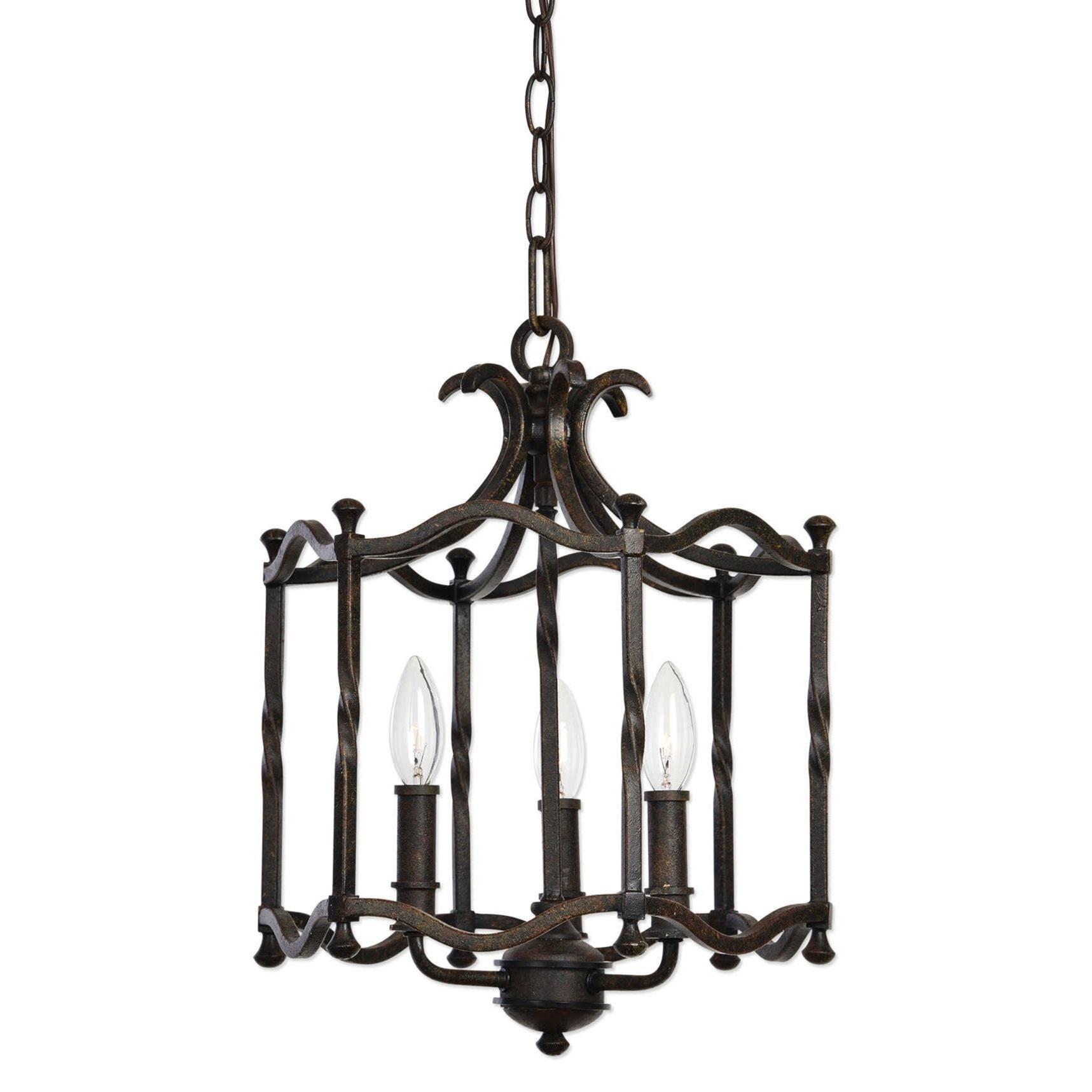 becker lighting. Uttermost Lighting Fixtures 22112 Candela Old World 3 Light Pendant   Becker Furniture Lights/Chandeliers