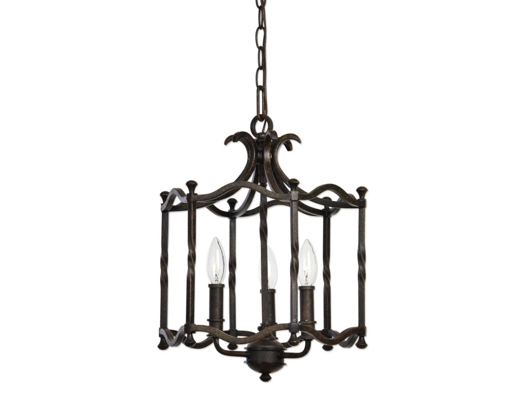 Uttermost Lighting Fixturescandela Old World 3 Light Pendant
