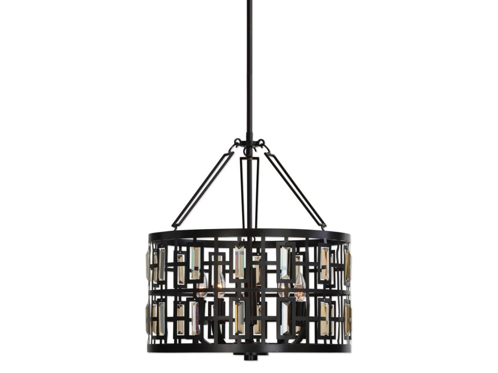 Lighting Fixtures Pendant Lights Rhombus 5 Light Bronze By Uttermost At Furniture Super Rochester Mn