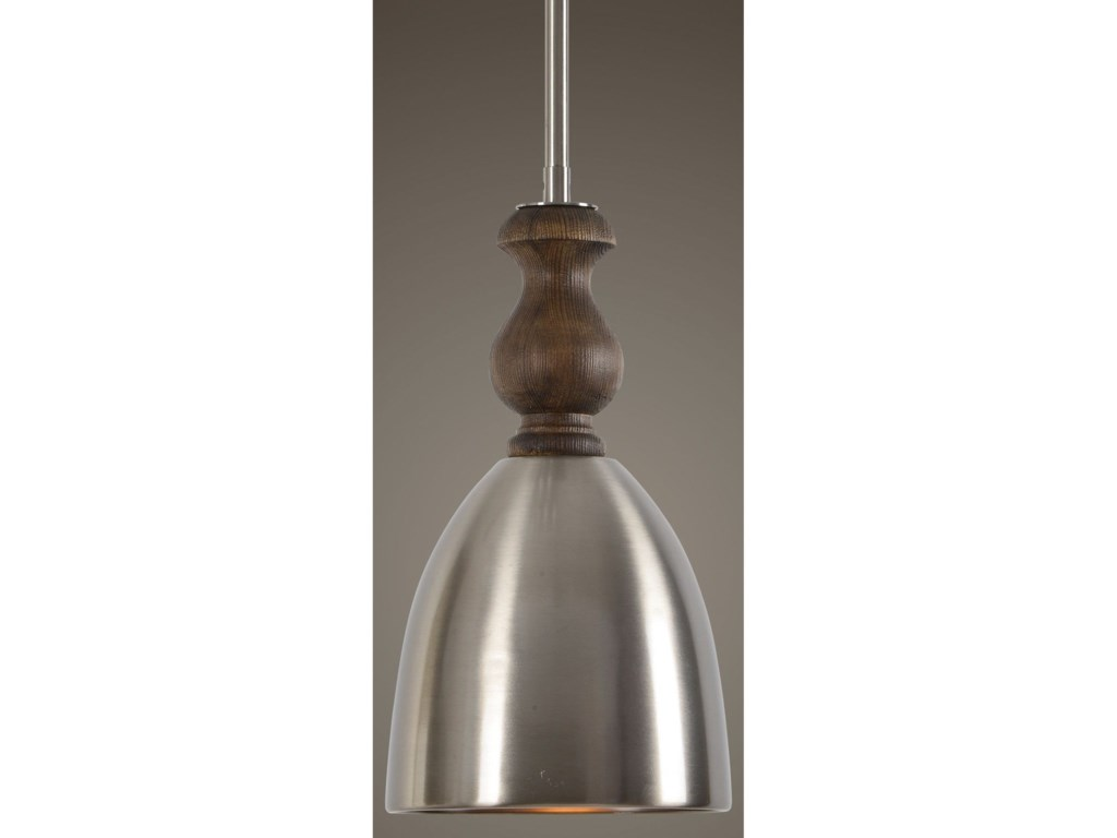 Uttermost Lighting Fixtures - Pendant LightsLuna 1 Light Aluminum Mini Pendant