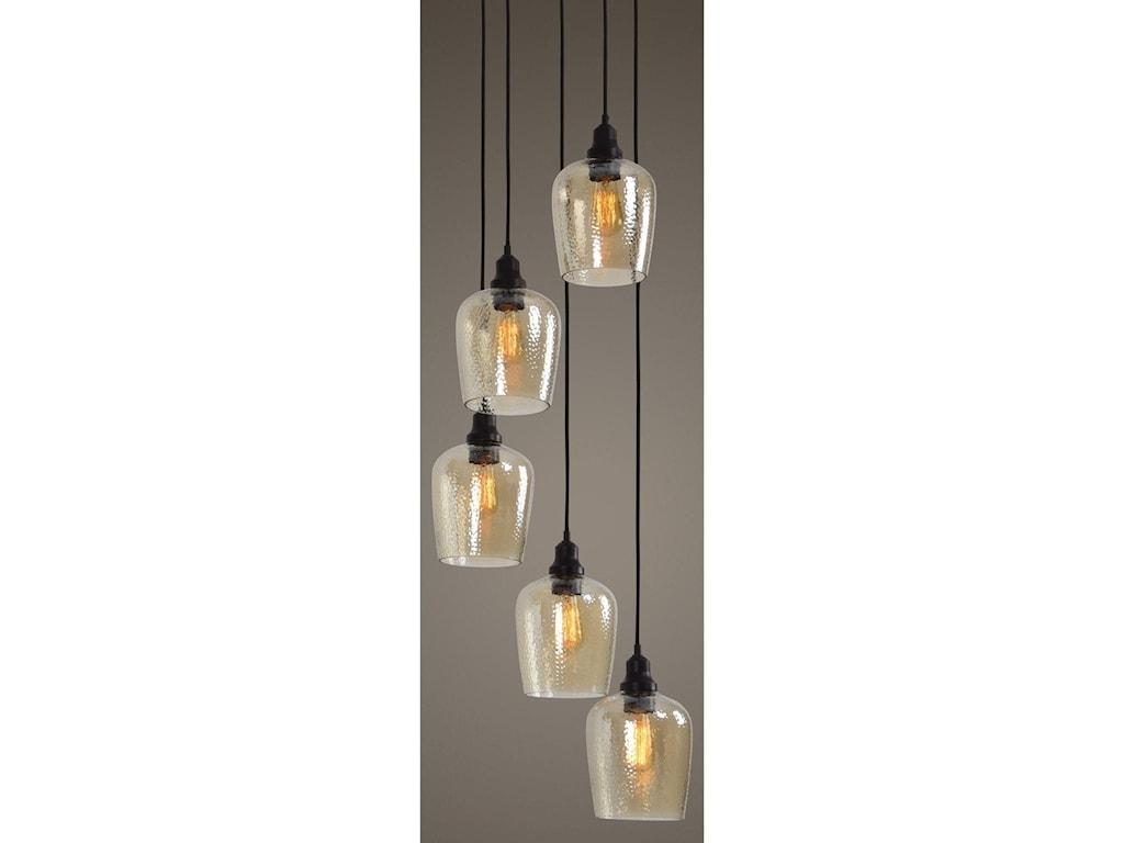 Uttermost Lighting Fixtures - Pendant LightsAarush 5 Light Glass Cluster Pendant