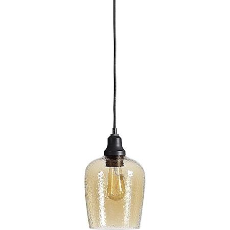 Aarush Amber Glass 1 Light Mini Pendant