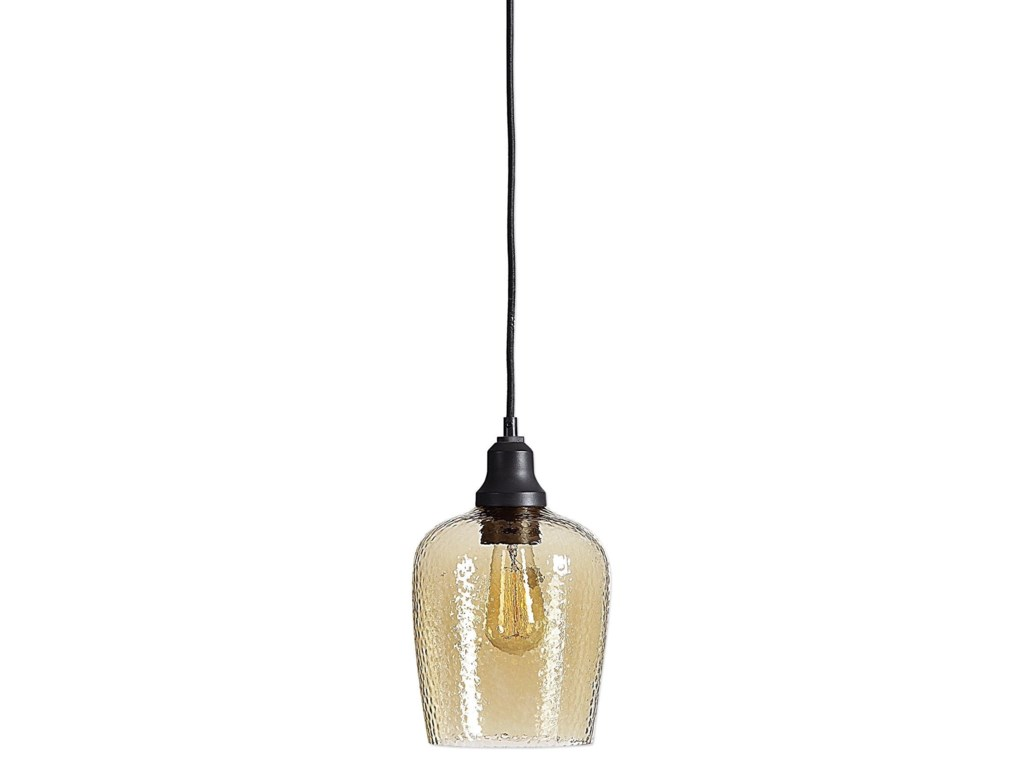 Uttermost Lighting Fixtures Pendant Lightsaarush Amber Gl 1 Light Mini