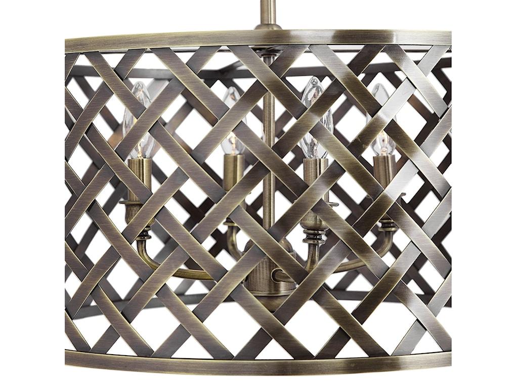 Uttermost Lighting Fixtures - Pendant LightsGrata 4 Light Brass Latticework Pendant