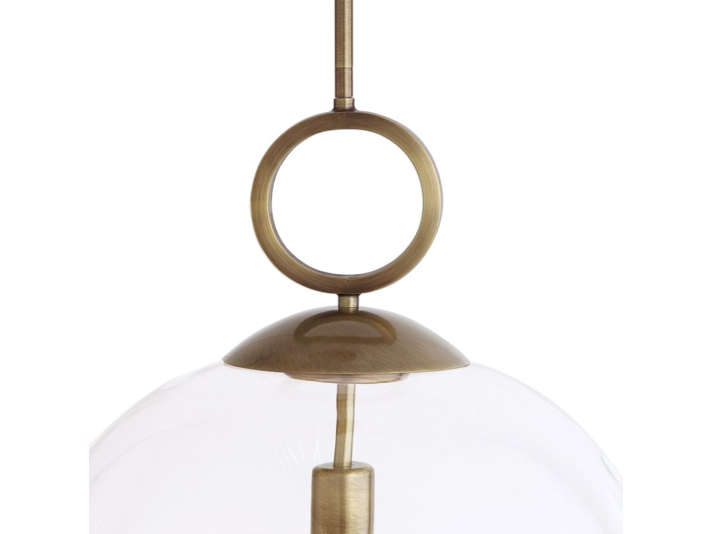 Uttermost Lighting Fixtures - Pendant LightsCalix Large Blown Glass 1 Light Pendant