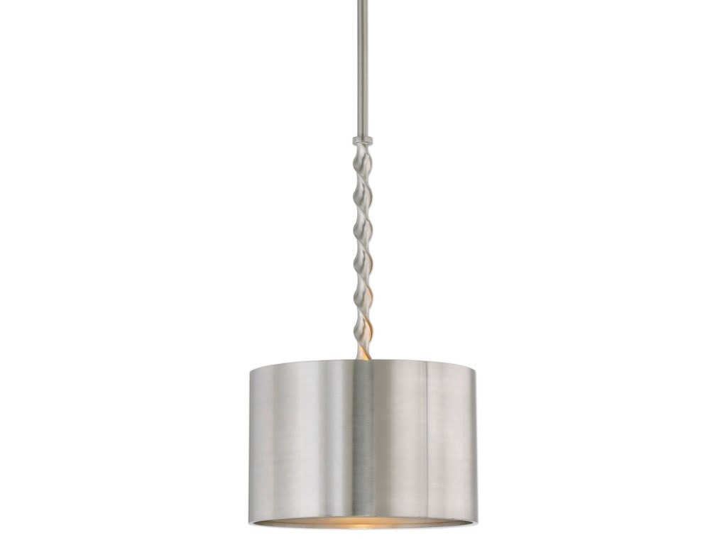 Uttermost Lighting Fixtures - Pendant LightsTori 1 Light Brushed Nickel Drum P