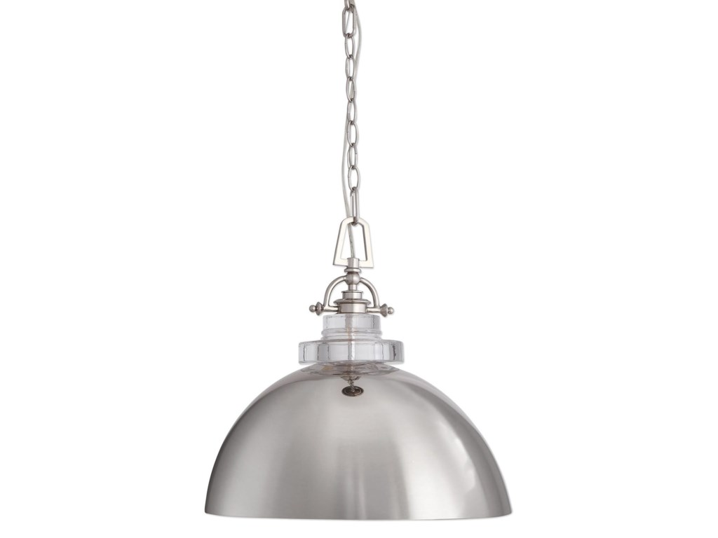 Uttermost lighting fixtures pendant lightsmantz 1 light urban dome pendant