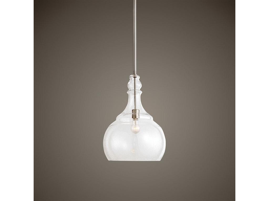 Uttermost Lighting Fixtures - Pendant LightsIlona 1 Light Seeded Glass Teardro