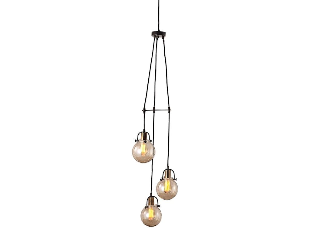 Uttermost Lighting Fixtures - Pendant LightsMethuen 3 Light Cluster Pendant