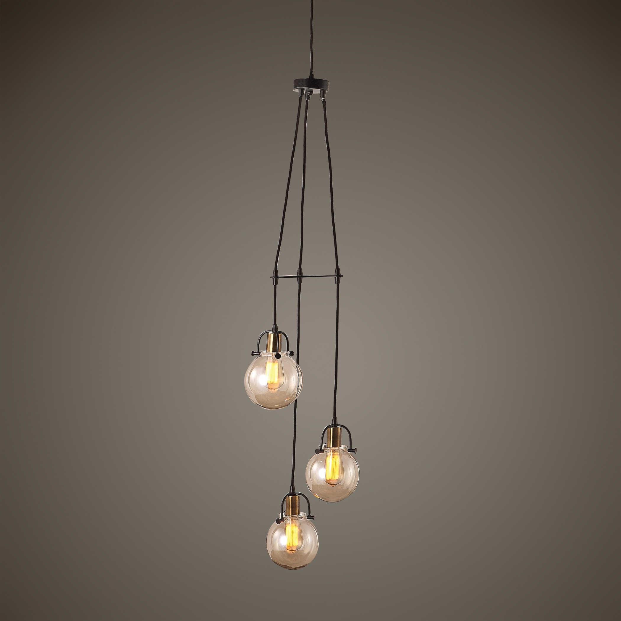 3 light cluster pendant pendant lighting uttermost lighting fixturesmethuen light cluster pendant fixtures methuen