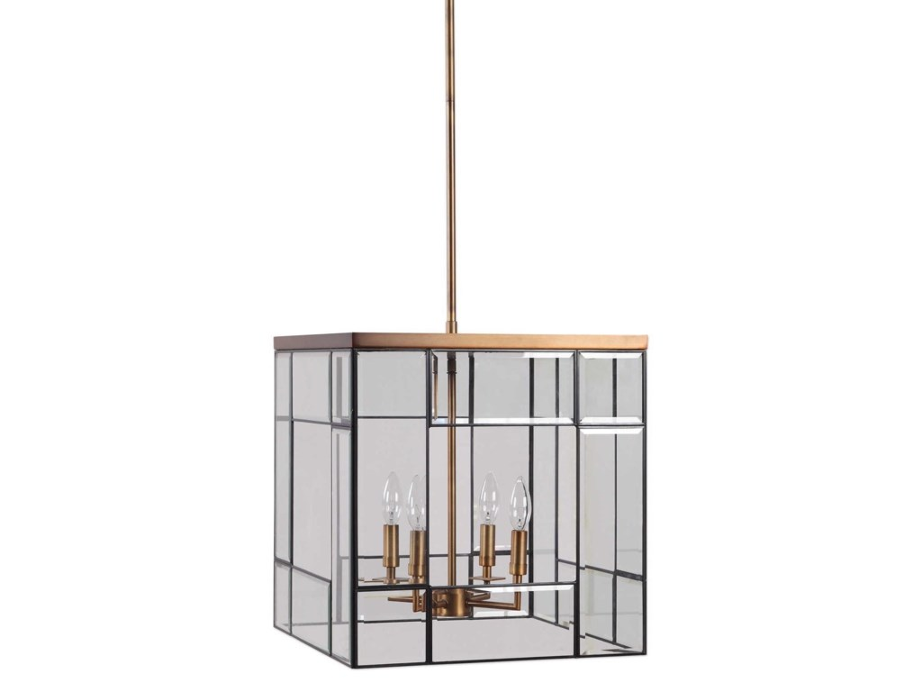 Uttermost Lighting Fixtures - Pendant LightsRomilly 4 Light Antique Brass Pendant