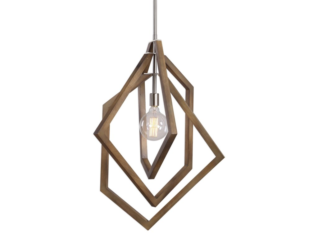 Lighting Fixtures Pendant Lights Elroy 1 Light Modern By Uttermost At Hudson S Furniture