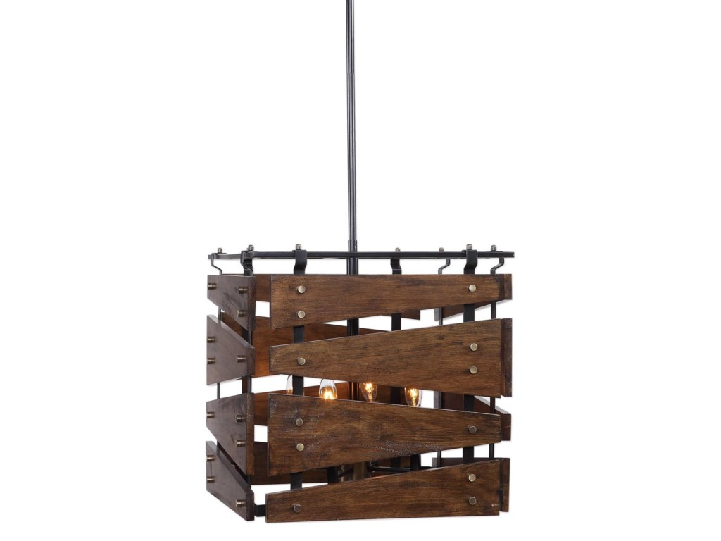 Uttermost Lighting Fixtures - Pendant LightsAugie 4 Light Industrial Pendant