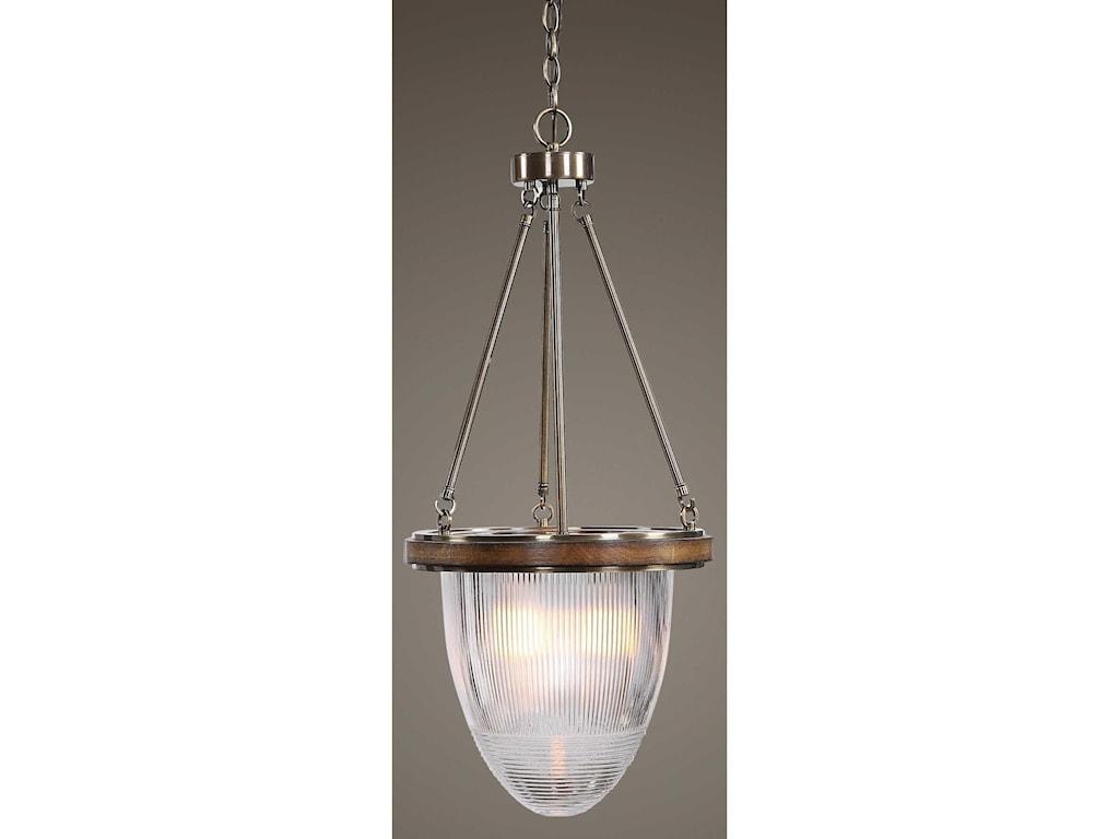 Uttermost Lighting Fixtures - Pendant LightsClemmie 1 Light Industrial Pendant