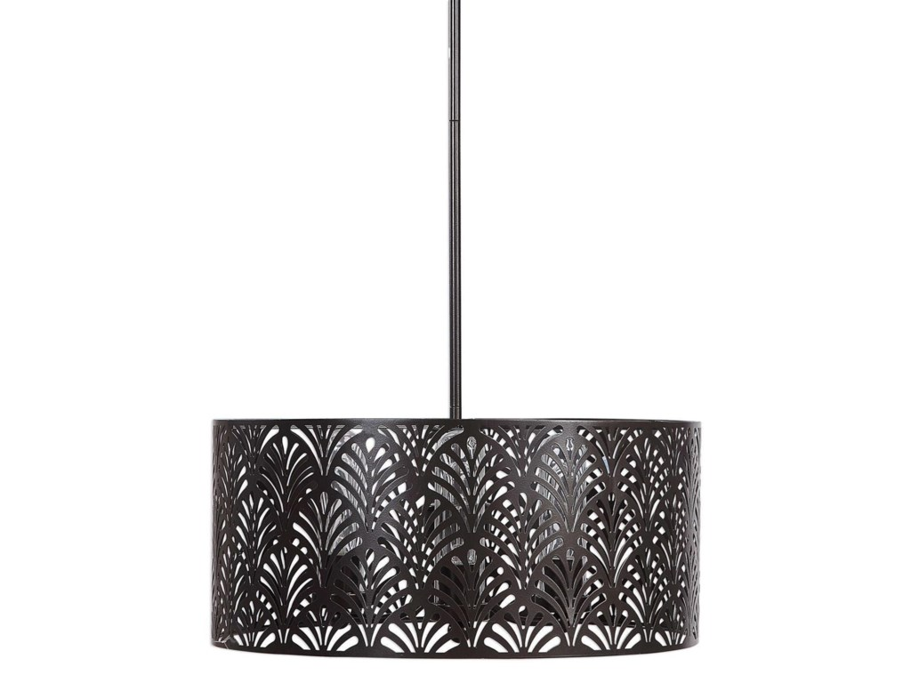 Lighting Fixtures - Pendant Lights Myrtle 3 Light Outdoor Pendant by  Uttermost at Houston's Yuma Furniture