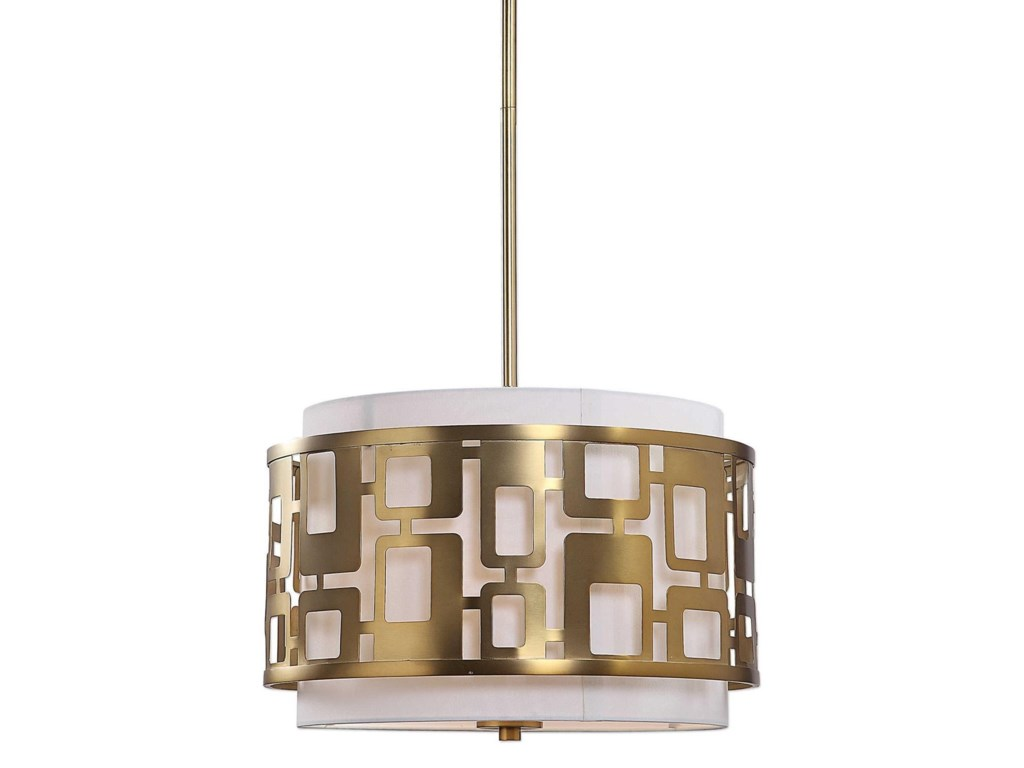 Uttermost Lighting Fixtures - Pendant LightsVecta 3 Light Brass Pendant