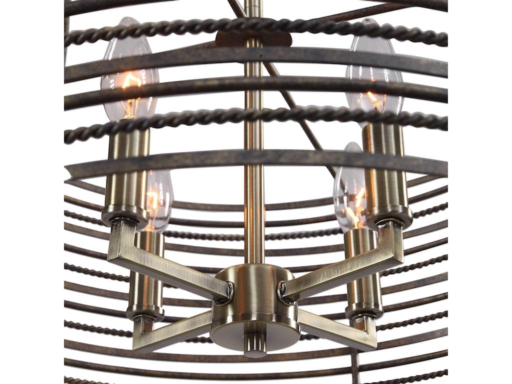 Uttermost Lighting Fixtures - Pendant LightsBraccialetto 4 Light Ring Pendant