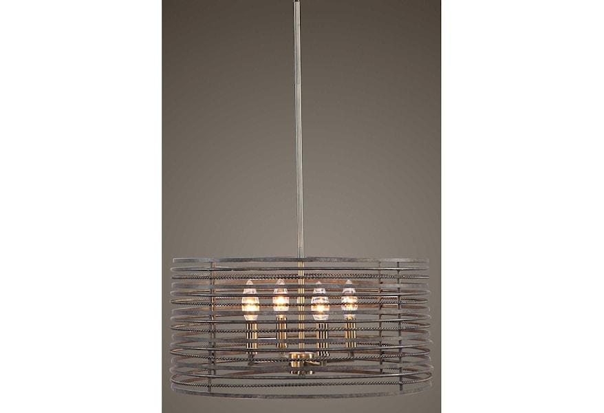 Uttermost Lighting Fixtures Pendant Lights Braccialetto 4 Light Ring Pendant Jacksonville Furniture Mart Pendant Lights Chandeliers