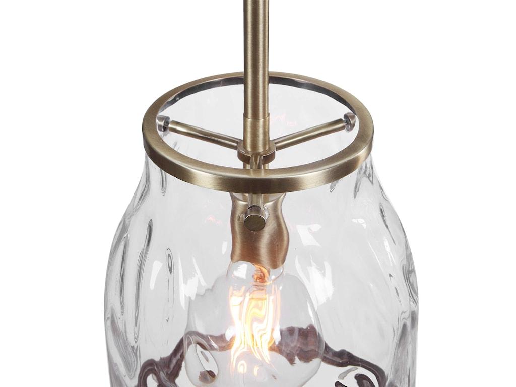 Uttermost Lighting Fixtures - Pendant LightsCrossley 1 Light Glass Mini Pendant