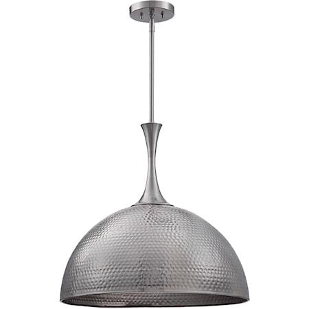 Raynott Nickel 1 Light Dome Pendant