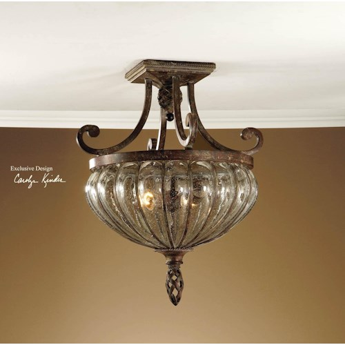 Uttermost Lighting Fixtures Galeana 2-Light Semi Flush Mount