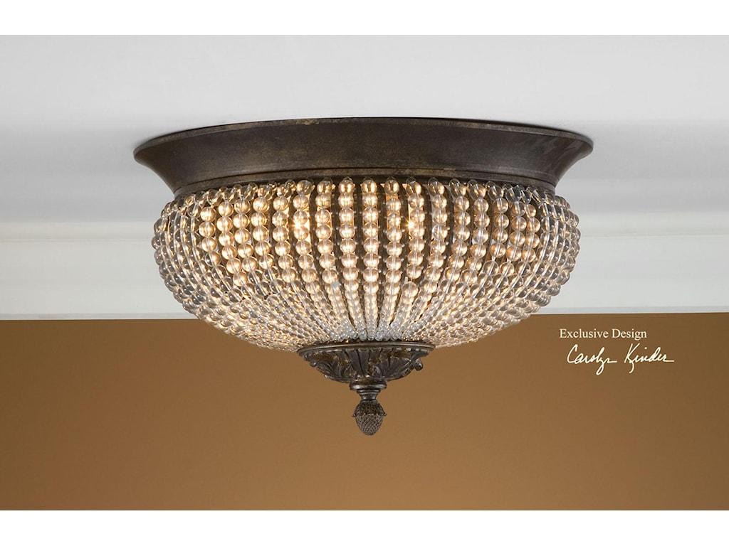 Uttermost lighting fixtures 22222 cristal de lisbon flush mount uttermost lighting fixturescristal de lisbon flush mount aloadofball Image collections