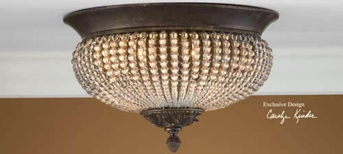 Uttermost Lighting Fixtures Cristal De Lisbon Flush Mount