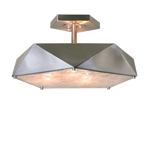 Uttermost Lighting Fixtures Tesoro 3 Light Antique Nickel Semi Flush
