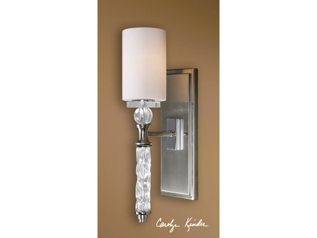 Uttermost lighting fixtures wall sconcescampania 1 light wall sconce